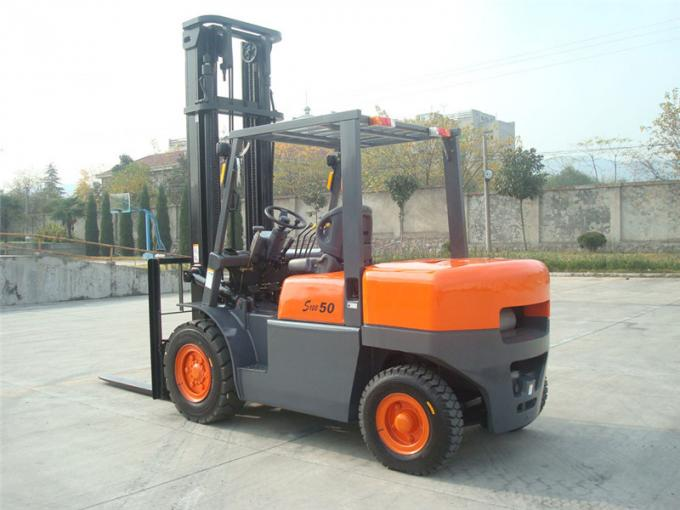 5ton diesel container working forklift with  2 stage full free mast