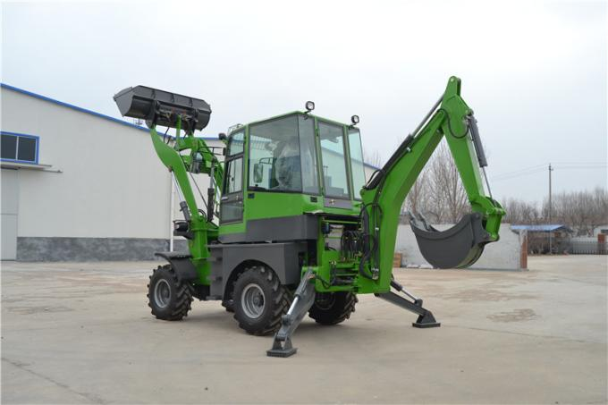China CE approved WY22-16  1.6ton 4WD backhoe loader with excavator