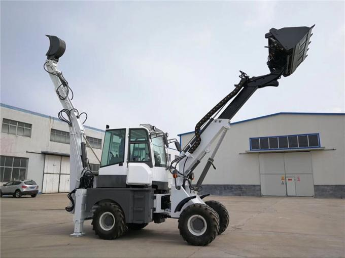 China  WY22-16  1.6ton 4WD telescopic backhoe loader with excavator